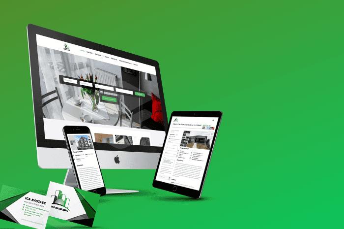Identitate vizuala, Logo, Carti de vizita, Website proiect, CRM